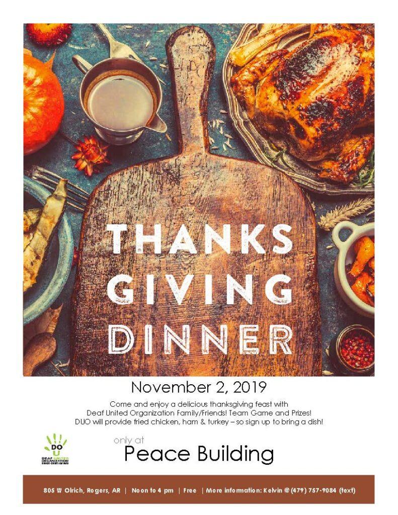 DUO Thanksgiving Dinner/Feast - November 2